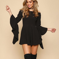 final sale - bewitched romper - black