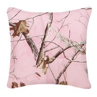 Realtree Bedding Camo Square Pillow in Pink