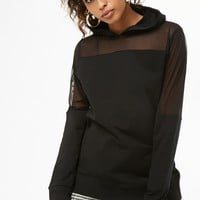 Sheer Mesh Hooded Top