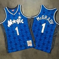 Orlando Magic M&N 1 Tracy McGrady Blue Swingman Jersey