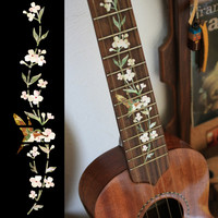 Ukulele Tree of Life w/Hummingbird Fret Markers Inlay Stickers Decals
