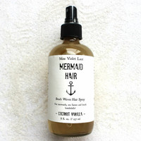Mermaid Hair Mist. Coconut Beach Waves - Vegan Wavy Hair Spray.