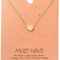 Must Have-Small Heart Necklace, gold