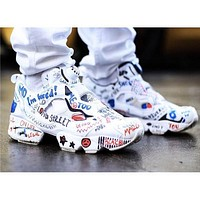 Reebok Boots Running shoes Insta pump Fury x Vetements Graffiti Casual shoes Men,Women Outdoor Boost Training Sneaker Shoes