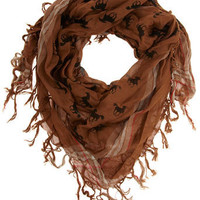 Tan horse print scarf - View All New In - What's New - Dorothy Perkins