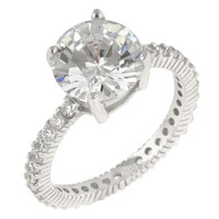 Queen Anne Clear Ring, size : 07