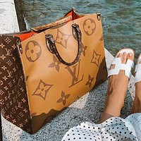 LV Louis Vuitton Classic Popular Women Shopping Bag Leather Handbag Tote Shoulder Bag Crossbody Satchel