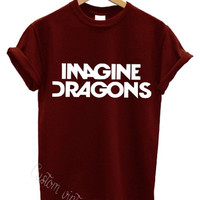 imagine dragons t shirt american rock band hardcore music  tour indie swag dope top