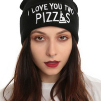 Love You Two Pizzas Watchman Beanie