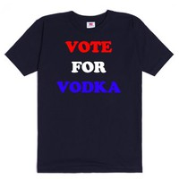 Vote For Vodka-Unisex Navy T-Shirt