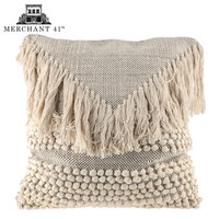 Natural & White Fringe Pillow Cover | Hobby Lobby | 1592450