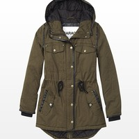 The Utility Parka With Faux Leather