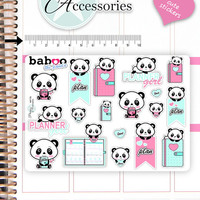 Kawaii Panda Stickers Cute Panda Stickers Panda Stickers Planner Stickers Hand Drawn Stickers Functional Stickers Decorative Stickers NR776