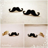 Petite Mustache Earrings