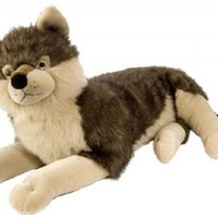 """Wild Republic Natural Poses 30"""" Wolf"""