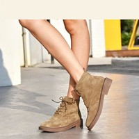 Pigskin Suede Handmade Lace Up Shoes