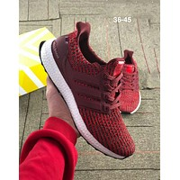ADIDAS UltraBOOST street fashion men and women casual wild sports running shoes Red