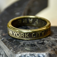 Recycled New York City Subway token - 1953-1970 - Size 7 3/4 (Reserved for Katurallure)