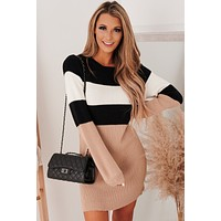 Montage Moment Sweater Dress (Black Combo)