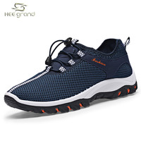 Mesh Breathable Shoes Men Sneakers Lace-up Running Shoes Fashion Mans Footwear XYP405