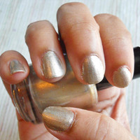 "Silver Gold Glitter Nail Polish ""Sold"" Full Size Bottle 0.5 oz"