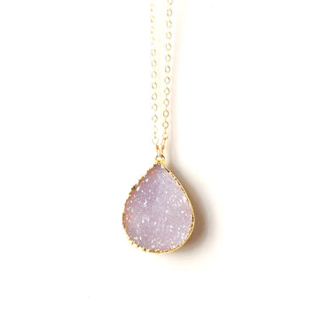 Anissa Sand Druzy Necklace