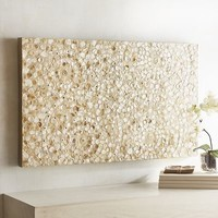 Capiz Swirls Wall Panel