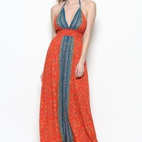 Nylah Boho Printed Maxi Dress