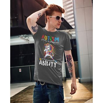 Men's Autism Unicorn T Shirt Love Different Ability Autism Shirt Cute Autism T Shirt Autism Awareness Shirt
