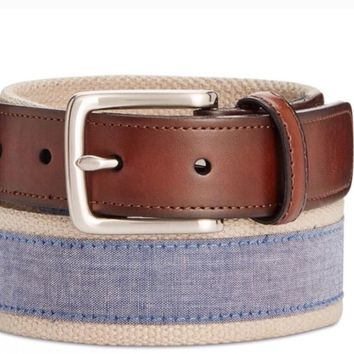 Stylish Accent Khakis or Shorts With Club Room Chambray Casual Belt