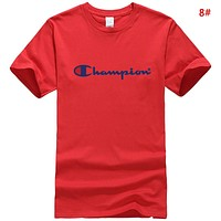 Champion  New Fashion Summer Letter Print Leisure Couple T-Shirt Top 8#