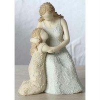 """4 Mother And Daughter Figures - 4.5 """" H X 3.375 """" W X 3.265 """" D"""