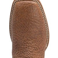 Twisted X Boots Oiled Peanut Bullhide with Blue Ice Top Square Toe Western Boots