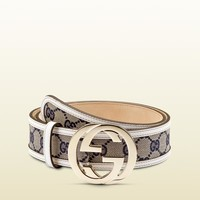 Gucci - belt with interlocking G buckle 114876FWCGG4085