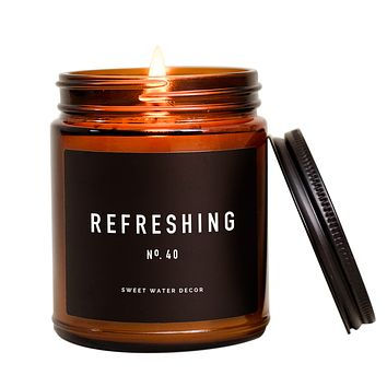 Refreshing Soy Candle | Amber Jar Candle