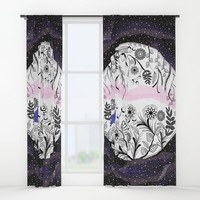 Nature in space Window Curtains by famenxt