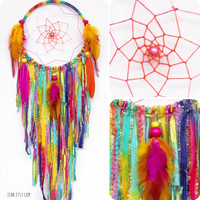 Sherbert Fairy Native Style Woven Dreamcatcher