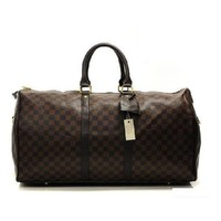 Louis Vuitton LV Women Fashion Leather Travel Satchel Handbag Shoulder Bag Big luggage Bag-2