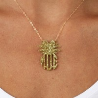 Acrylic Monogrammed Pineapple Necklace