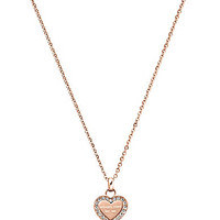 Michael Kors Logo Heart Pendant Necklace - Silver