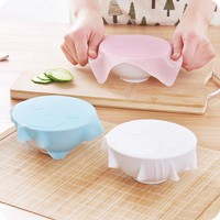 1Pc 17.9*17.9cm Silicone Wraps Seal Cover Stretch Cling Film Food Fresh Keep Table Mat Pad Placemat Kitchen Gadgets
