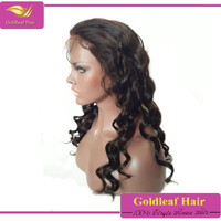 Goldleaf Hair Brazilian Remy Hair Virgin Hair Lace Front Wigs Bleached Knots Natural Hairline Loose Wave Full Lace Wig