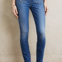 7 for All Mankind Lattice Skinny Ankle Jeans in Awin Size: