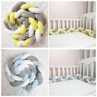 Baby bed bumper 200cm Newborn infant crib Cot Nursery protect Toddler baby Bedding Set baby decoration room tour de lit tresse