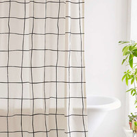 Wonky Grid Shower Curtain | Urban Outfitters