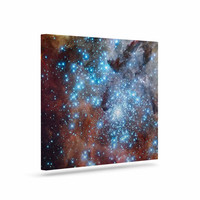"""Suzanne Carter """"Star Cluster"""" Blue Space Canvas Art"""