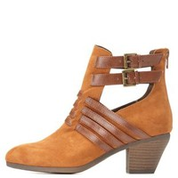 Double Buckle Cut-Out Bootie by
