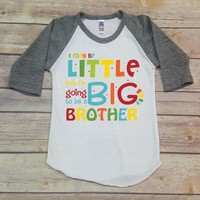 I Maybe Little But I'm Going To Be A Big Brother Personalized Raglan
