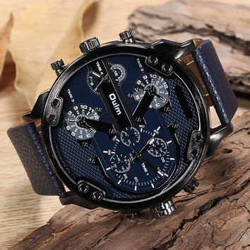 50MM Oulm Watch - Black, Brown, Denim, Dark Blue and White Faces
