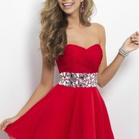 Stock Beaded Evening Prom Gown Homecoming Party Cocktail Gown Short MiNi Dress
